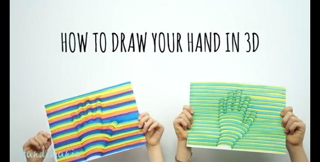 C mo dibujar tu mano en 3d for Programa para dibujar en 3d