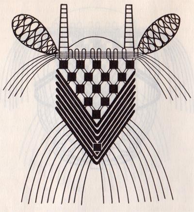 Плетение козы в макраме. Схема плетения козы техникой макраме.