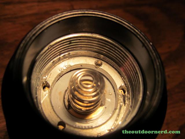 FandyFire STL-V2 Flashlight - Closeup of Head: Inside