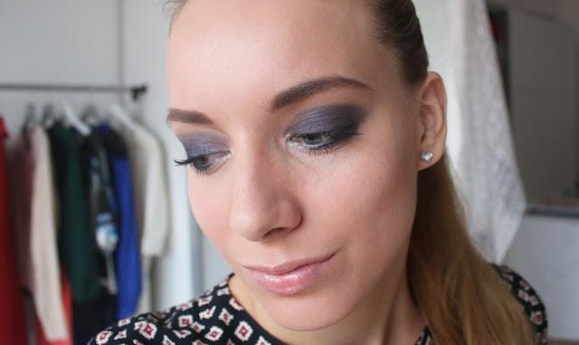 синий макияж смоуки айз, тени chanel swing 2015, beauty blogger katrin from berlin