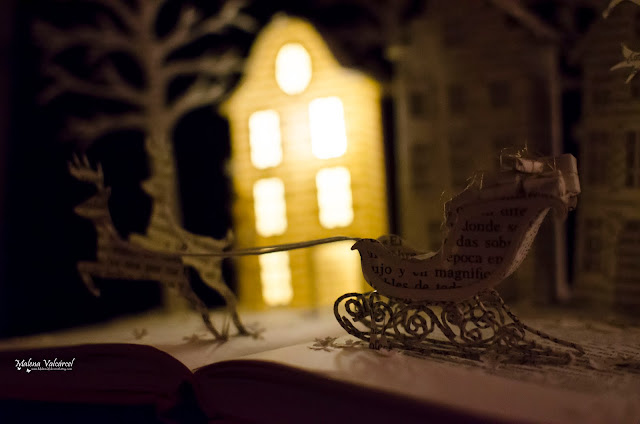 book-arts-christmas-paper-model