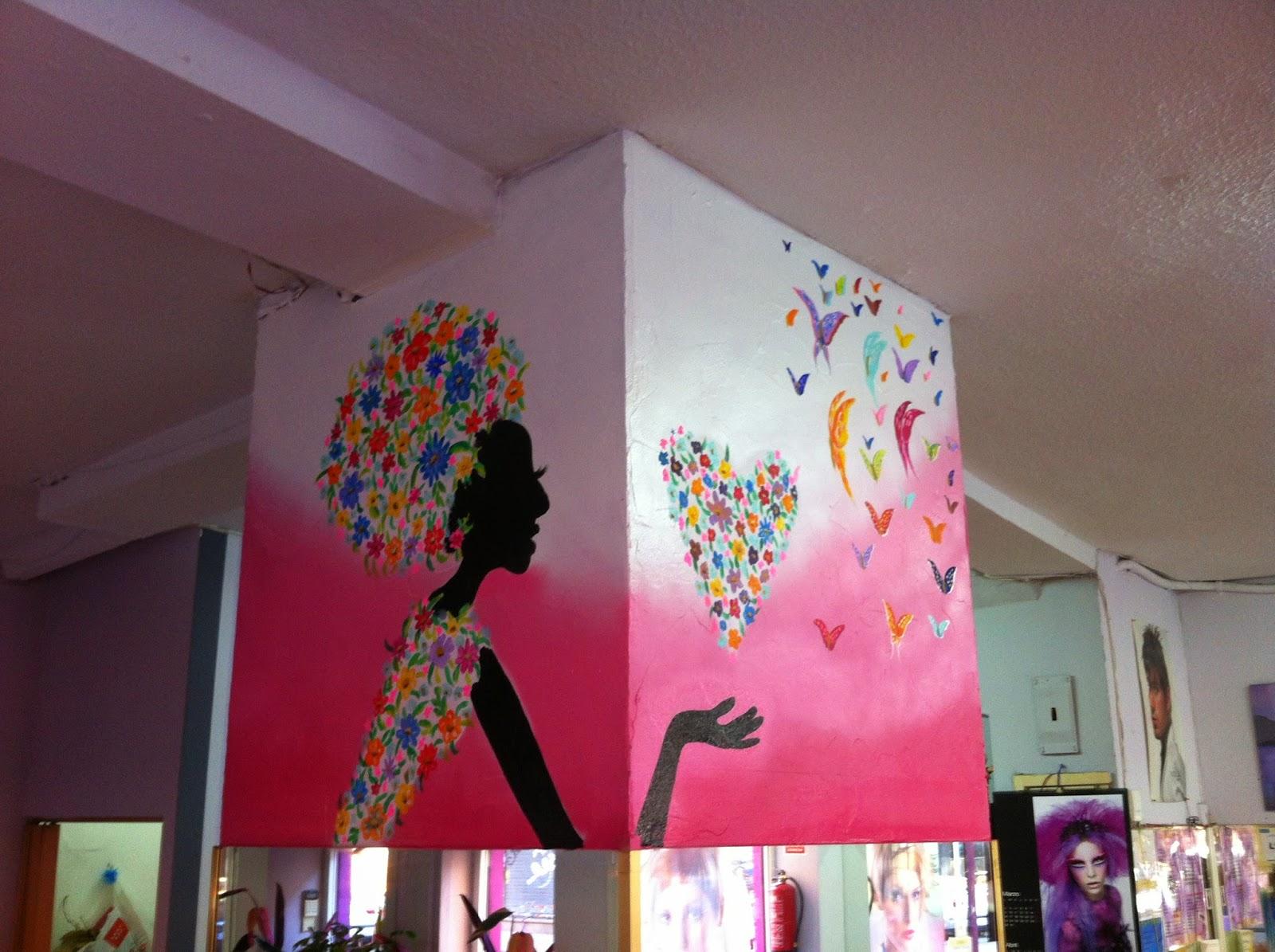 Uge arte decoracion interior de peluqueria dibujos con - Decoracion en peluquerias ...
