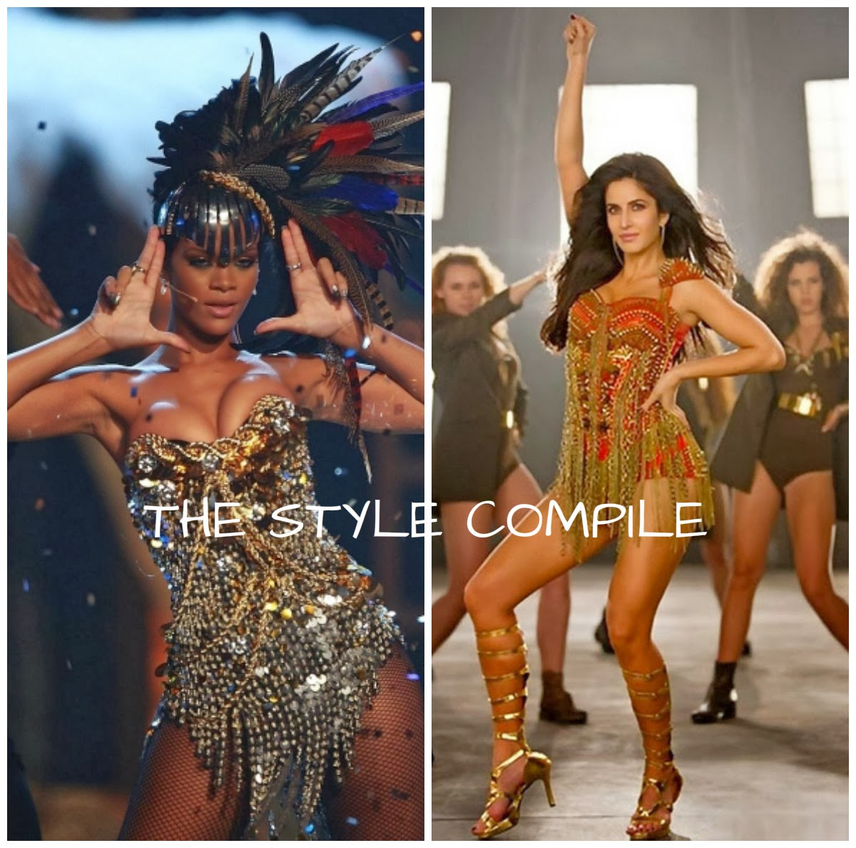 Dhoom 3 yellow dress beyonce