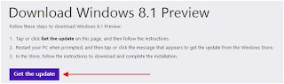 Download Windows 8.1 Preview via Windows Store