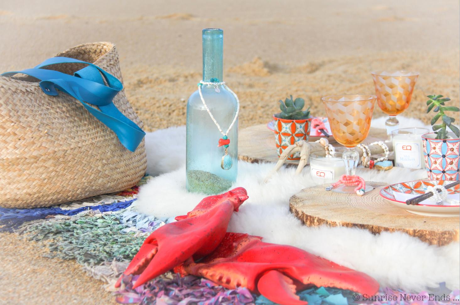 art de la table,concours,beach shack hossegor,ateliers de sathyne,sunrise never ends,picnic,la plage,hossegor
