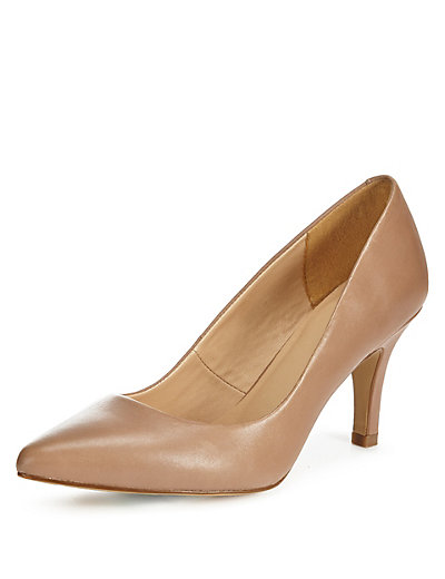 Marks and Spencer Leather Point Toe Court Shoe
