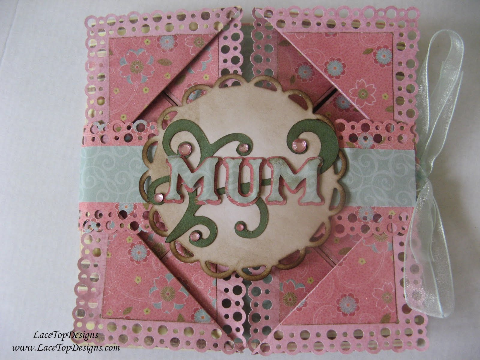LaceTopDesigns August 2011 – 60th Birthday Card Mum