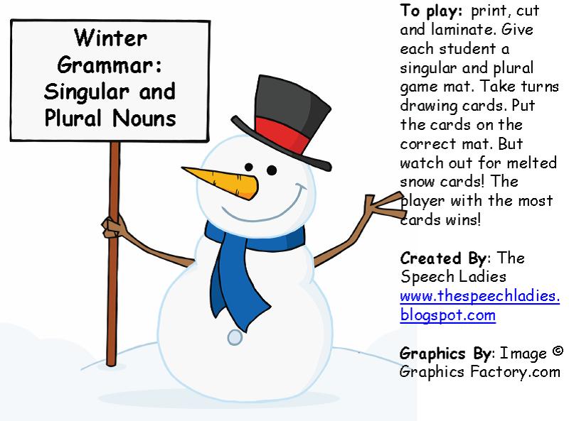 Wintergrammar singular and plural nouns