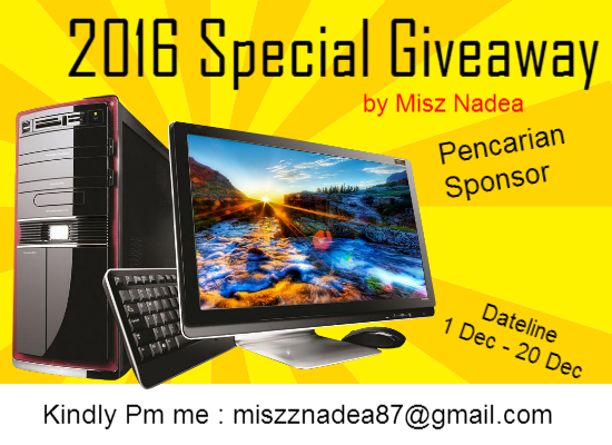 Pencarian Sponsor 2016 Special Giveaway by MiszNadea