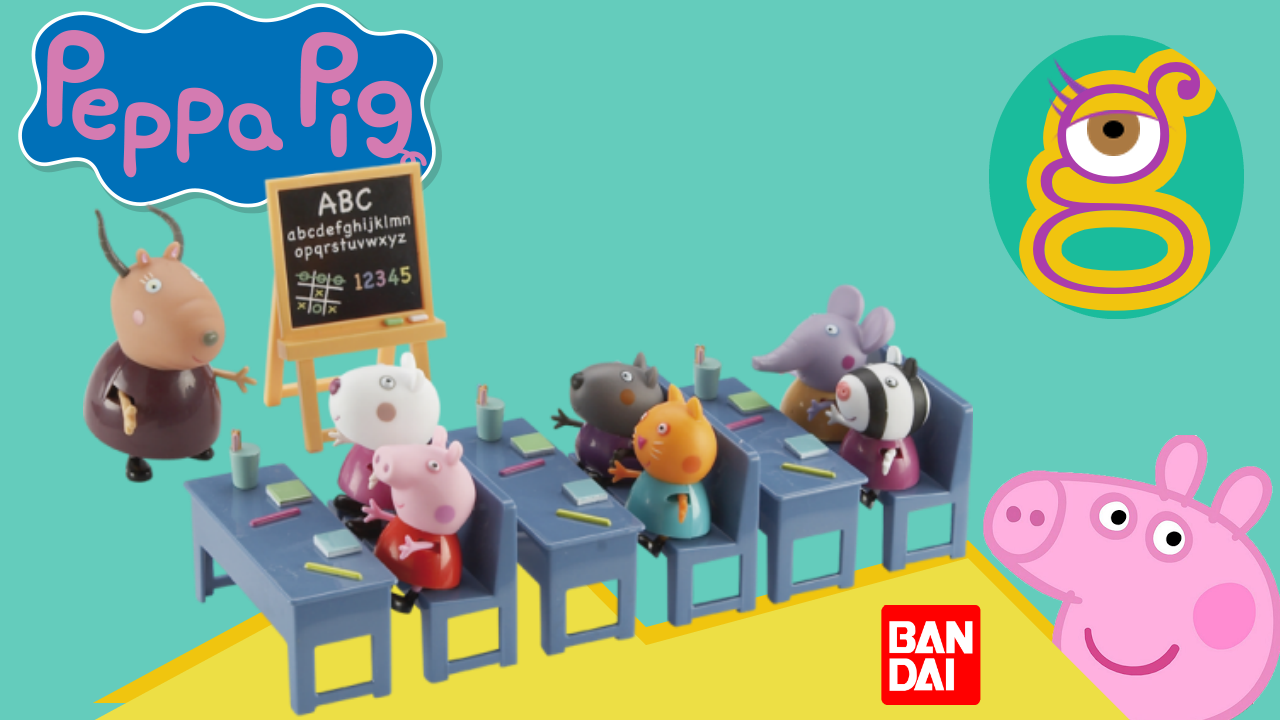 Review vamos al cole con Peppa pig classroom palyset de Bandai