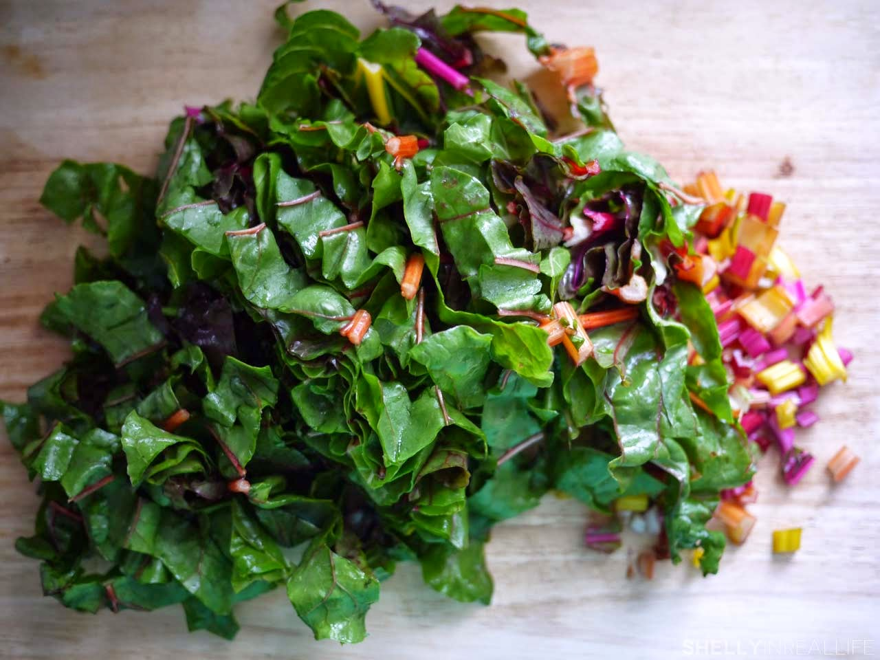 Sautéed Rainbow Swiss Chard - Shelly in Real Life