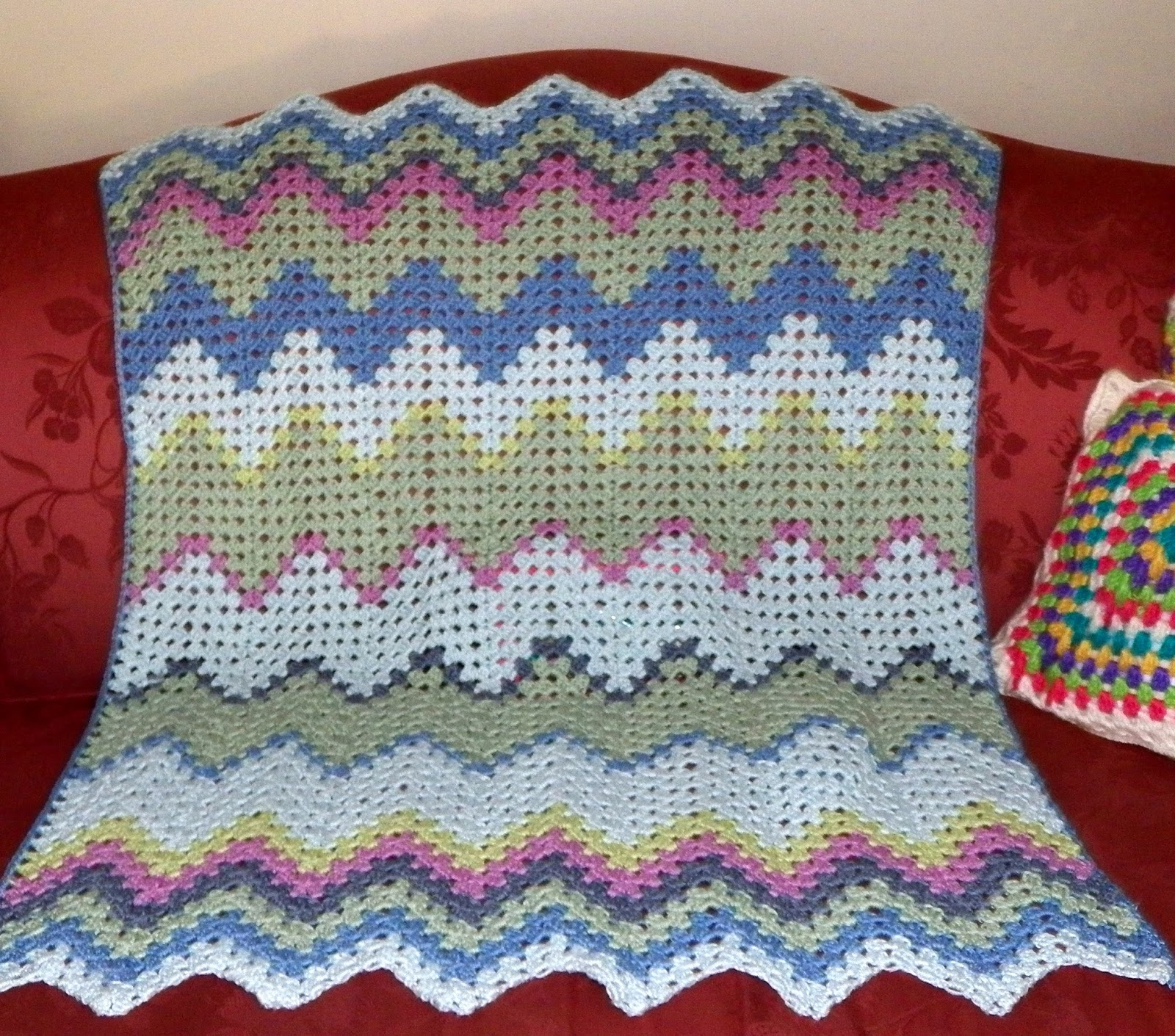 Crochet attic new baby granny ripple afghan tah dah new baby granny ripple afghan tah dah bankloansurffo Images