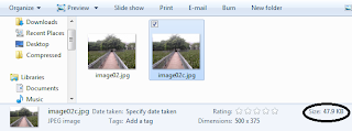 image size after compression
