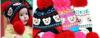 Topi rajut anak korea