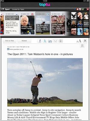leer tus noticias en el iPad - taptu