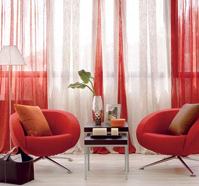 Decorando Dormitorios Lindas Cortinas Rojas Para Sala