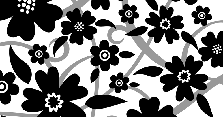 Black and white flower design many flowers mightylinksfo