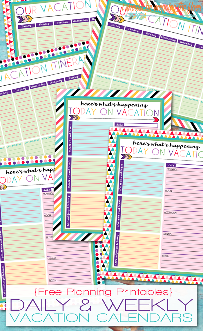 Calendar Planner Printable Sia : I should be mopping the floor free printable daily and