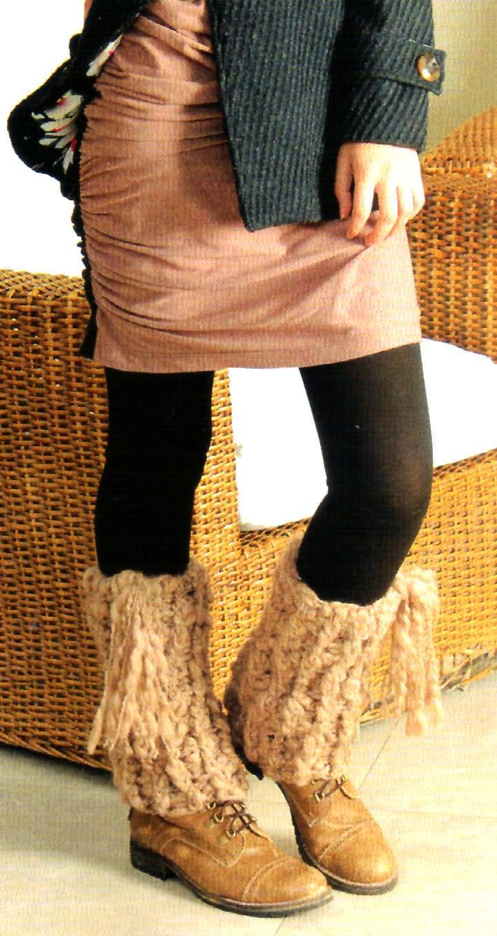 tejidos artesanales en crochet: polainas tejidas en crochet