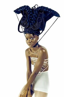 креатив из волос от Joanne Petit-Frere