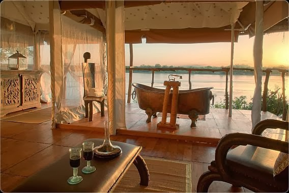 AFRICA'S MOST REMOTE SAFARI LODGE. Click on the photo.