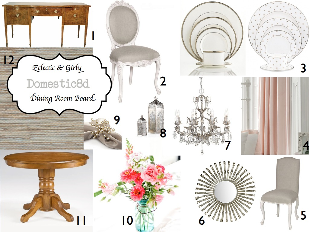 IMBM Eclectic Girly Dining Room