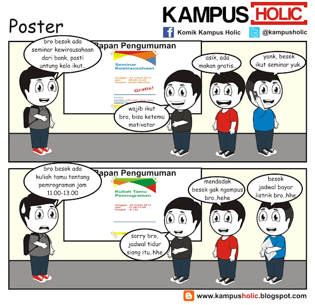#089 Poster di kampus universitas holic