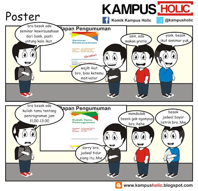 #089 Poster di kampus universitas holic