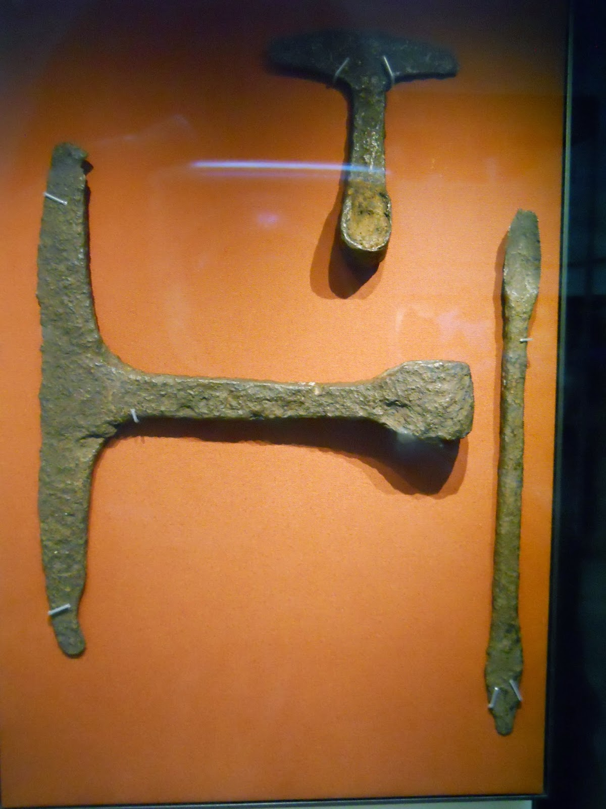 egyptian adze. these anglo-saxon woodworking tools were found at hurbuck in county durham and date to around 1,200 - 1,000 years ago. the curved adze top would be egyptian a