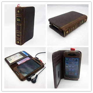 Antique Book Style Case Wallet Brown Color for iPhone 4 4S