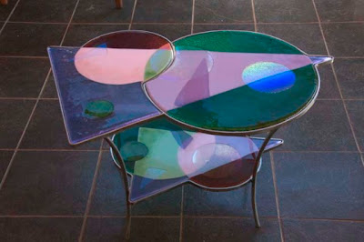 Stained glass table, Antique Table, Glass Table, Stained Table