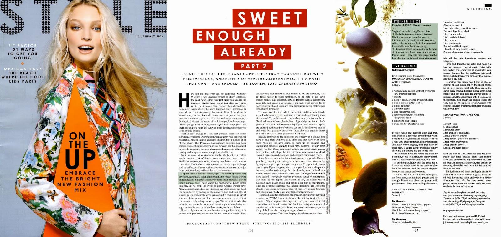 Magazine Cover : Melissa Tammerijn Magazine Photoshoot Pics on Sunday Times Style Magazine January 2014 Issue