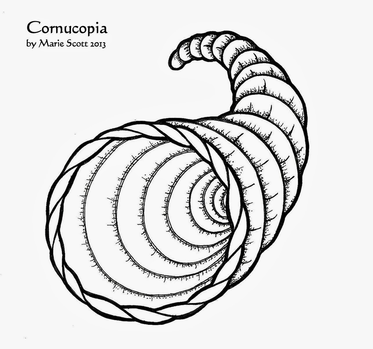 Priceless image for cornucopia coloring pages printable