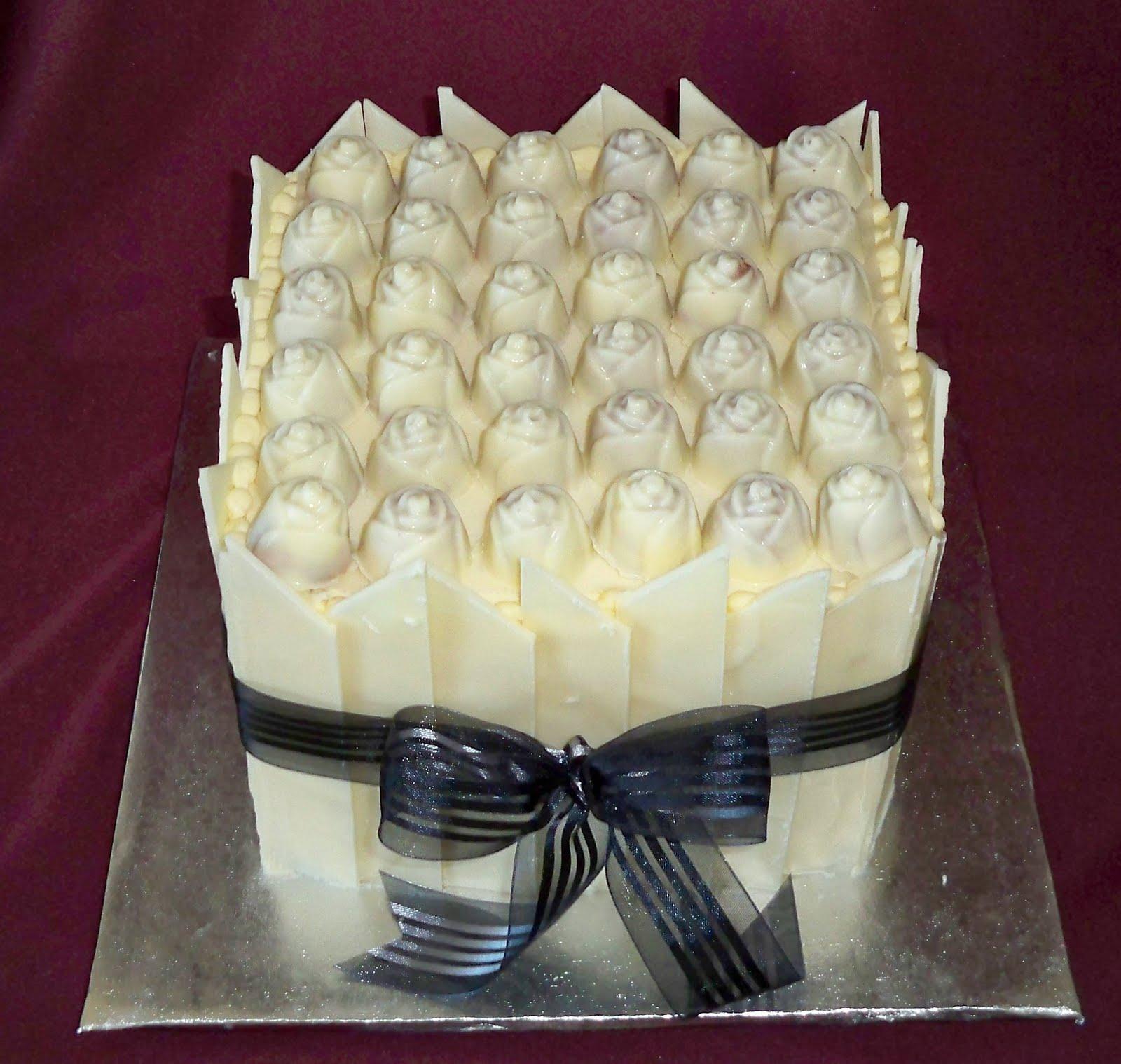 square chocolate tower cakes | Elisabeth\'s Wedding Cakes