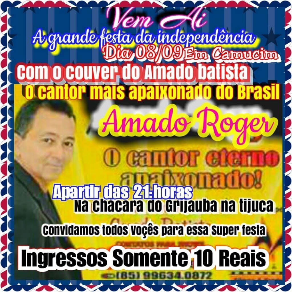 Setembro - Festa da Independência com o cover do Amado Batista, Amado Roger