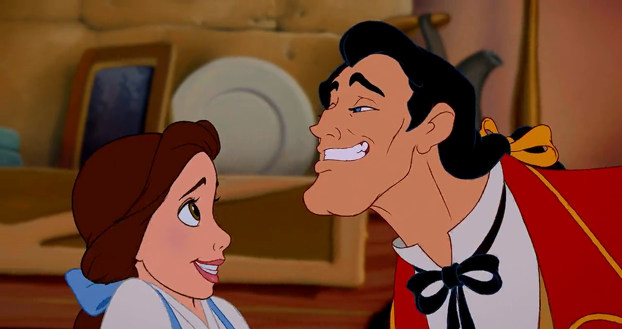 Belle, Gaston Beauty and the Beast 1991 animatedfilmreviews.filminspector.com