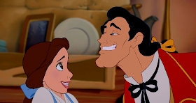 Belle, Gaston Beauty and the Beast 1991 animatedfilmreviews.filminspector.com