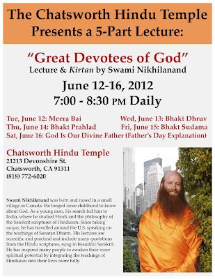 Jagadguru Shree Kripaluji Maharaj's disciple speaking in Chatsworth, California