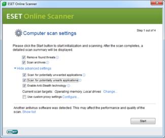 ESET Online Escáner