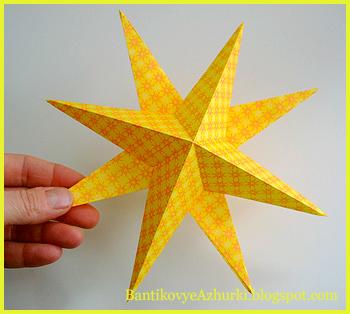 звезды своими руками-для-праздничного-интерьера