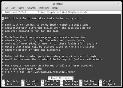 crontab linux
