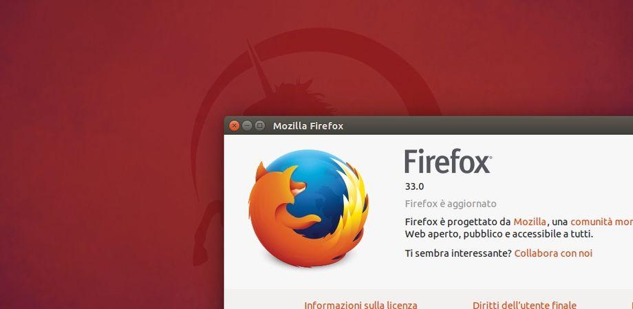 Mozilla Firefox 33 in Ubuntu
