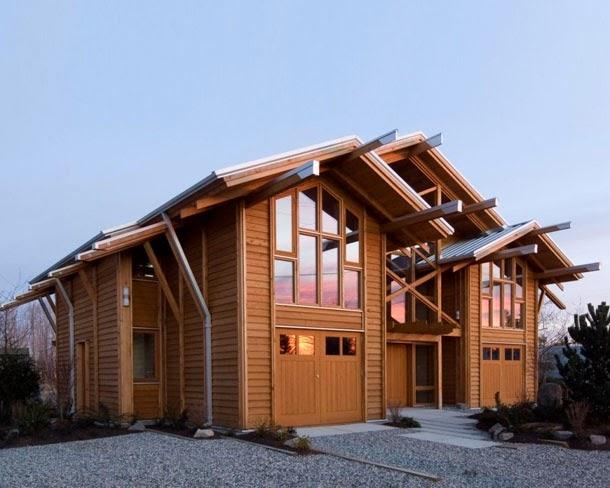 Desain Rumah Kayu Terbaik 2014
