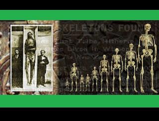Tribos nativas do noroeste e sudoeste dos Estados Unidos ainda falam sobre as lendas de gigantes ruivos e de como seus ancestrais combateram longas e terríveis guerras contra estes gigantes, há mais de 15.000 anos. Mesmo na América Central, os antigos astecas e maias registraram seus encontros com uma raça terrível de gigantes no norte, quando eles se aventuravam em expedições à procura de novas terras. Quem eram estes gigantes que muitas lendas falam a respeito?  Poderia esta ser uma parte da história que respeito?  Poderia esta ser uma parte da história que tem sido ignorada pelos acadêmicos?  Seria possível, como a evidência sugere, que gigantes viviam na Terra, num passado distante?  Tem havido numerosos lugares no globo onde foram escavados esqueletos gigantes em sítios arqueológicos.  Pesquisadores apontam que nos Estados Unidos estes misteriosos gigantes foram encontrados nos estados de Michigan, Illinois, Tennessee, Arizona e Nevada.