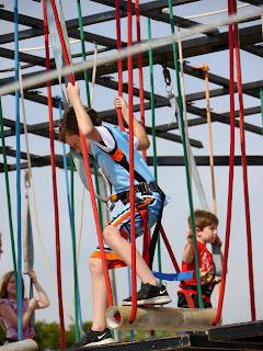Child on Climbing Structure at Renaissance Festival in Deerfield Beach