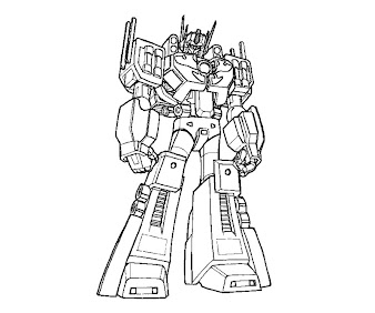 #3 Transformers Coloring Page