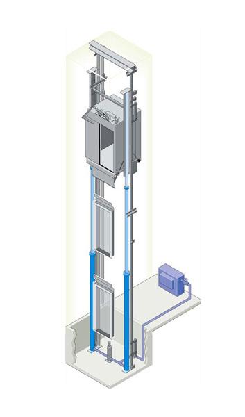 Escon elevators pvt ltd escon products hydraulic elevator for Home elevator kits