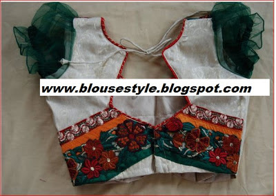 new fashion back neck blouse knot blouse in embroidery work indian