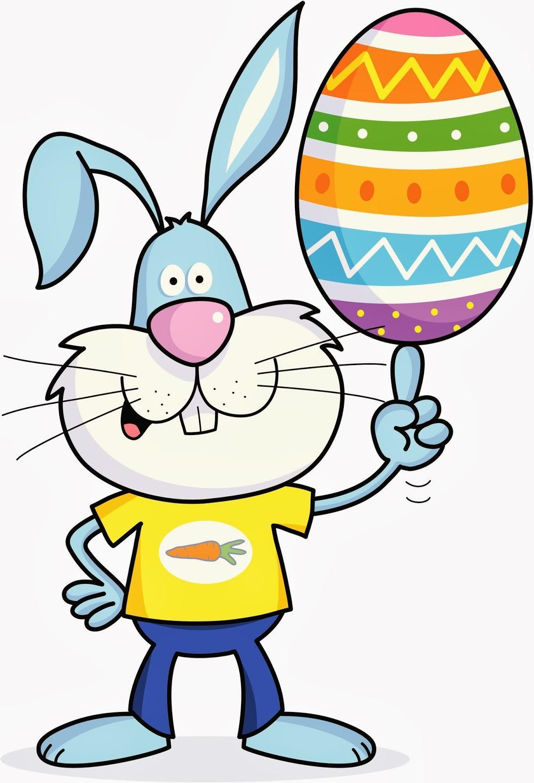 Frases de amor en imagenes: Dibujos de conejos de Pascua para niños