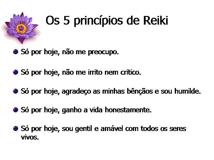 Os 5 principios de Reiki